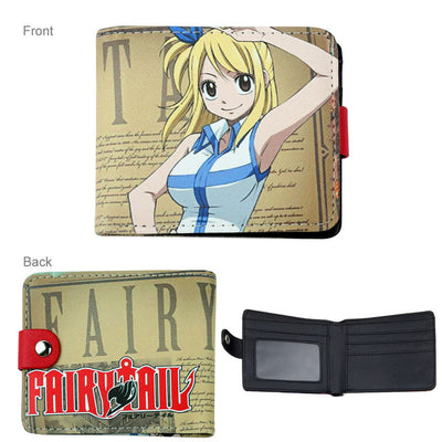 anime fairy tail/tokyo ghoul/Super Mario/naruto wallet