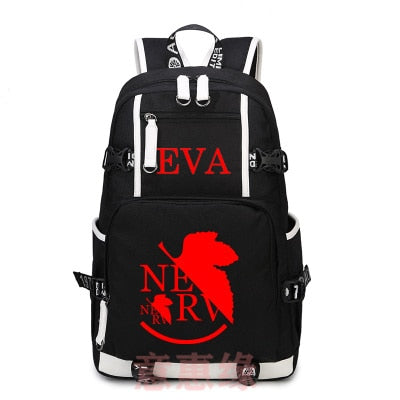 Anime Neon Genesis Evangelion Canvas Backpack
