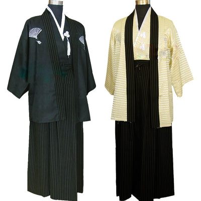 Vintage Kimono Man Japanese Traditional Dress