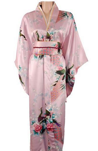 High Quality Pink Japanese Women's Traditional Kimono
