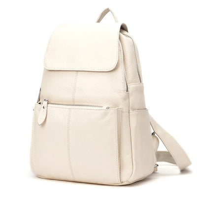 Fashion Color 100% Genuine Leather Casual Women's Backpacks