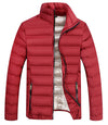 men`s light cotton padded parka winter jacket