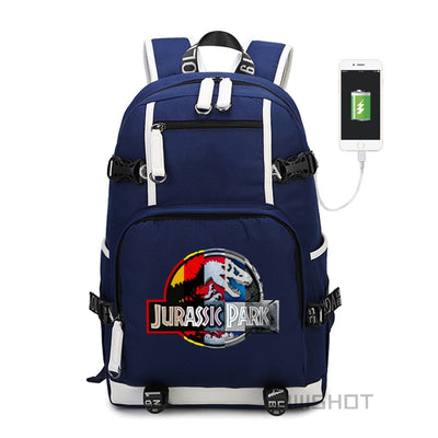 Jurassic Park World multifunction USB charging backpack