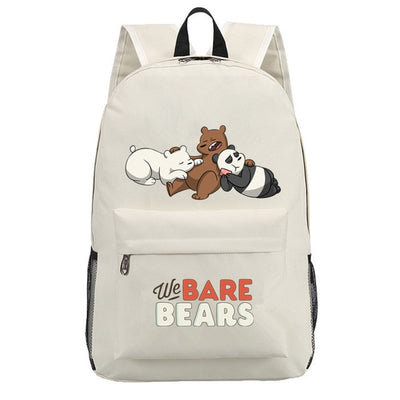 Lovely We bare bears Grizzly Panda Ice Bear backpack