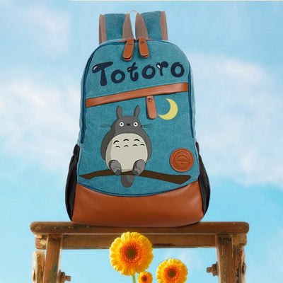 Anime Tonari no Totoro Cosplay Hand-painted backpack