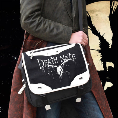Anime Death Note L Logo Cosplay School Shoulder Bag