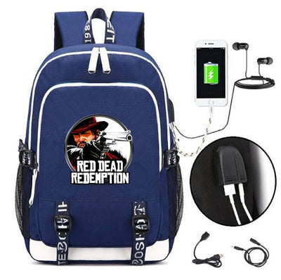 Red Dead Redemption 2 USB charging students Backpack