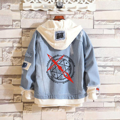 fate grand order Anime fate saber Jeans hoodie Coat