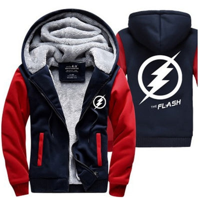 DC Superhero Movie The Flash Zipper Sweatshirts 3D Printing Hoodies