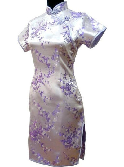 Elegant Slim Plus Size Qipao Chinese Female Rayon Dress