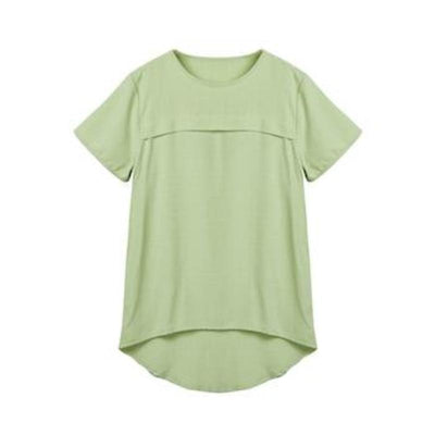 100% Mulberry Silk Short Sleeve Fashion Summer Style Lady Shirt