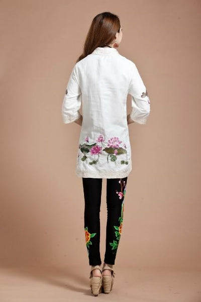 Women Blouse Spring Autumn Tang Suit Traditional Chinese Top Mandarin