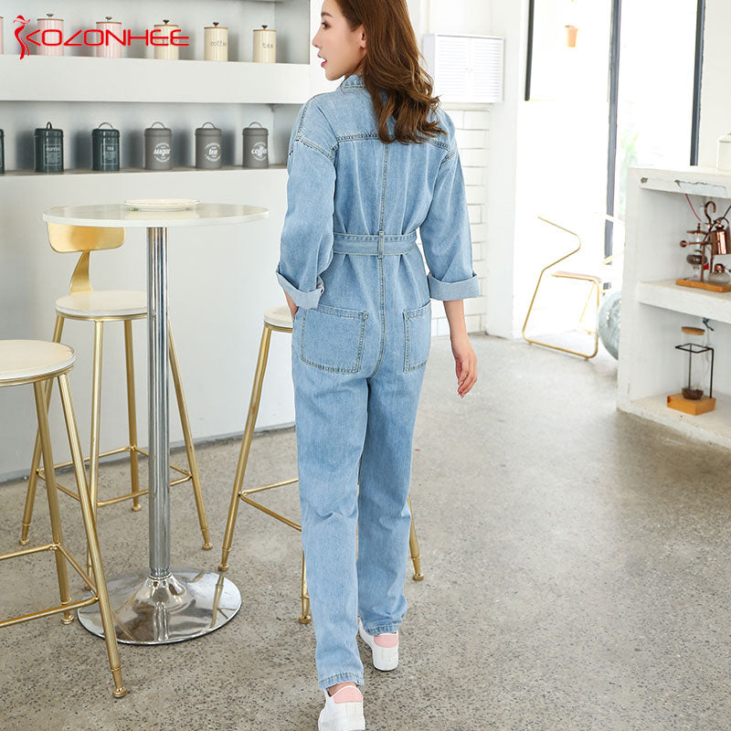 8b3ae81f91e Loose Cargo Overalls Jeans For Women Denim Rompers Jumpsuit - wearGG
