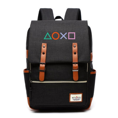PS4 Playstation printing Controller preppy style Laptop Backpack