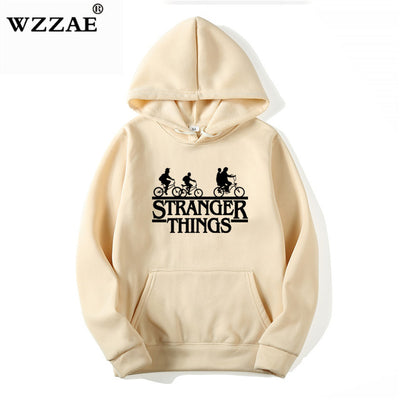 Trendy Faces Stranger Things Hooded Sweatshirts