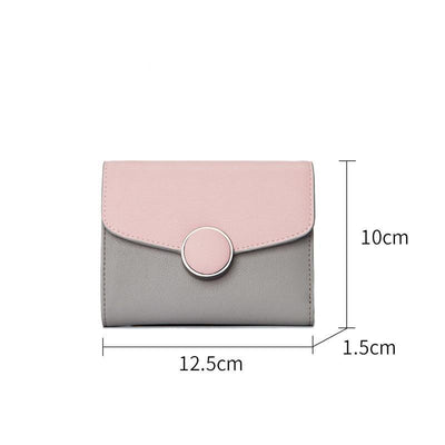 Clutch Purse Lady Short Bag Slim Mini Wallet