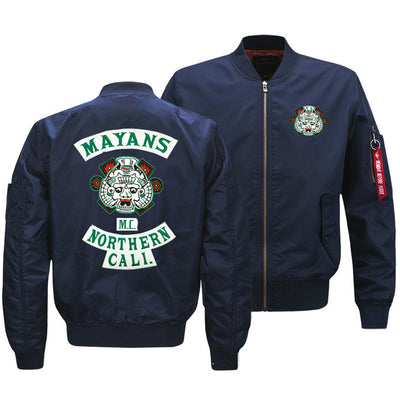 Sons of Anarchy Unisex Warm Casual Zipper Baseball Jacket