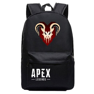 Game Apex Legend Cartoon Printing Black Travel Backpack