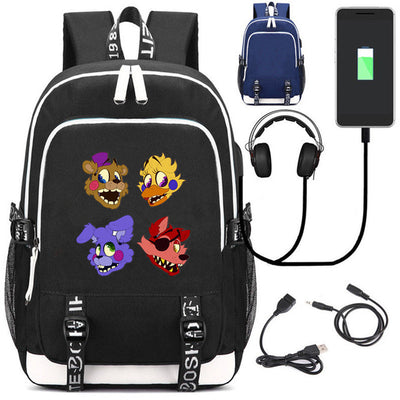 Five Nights at Freddy's USB charging students Backpack