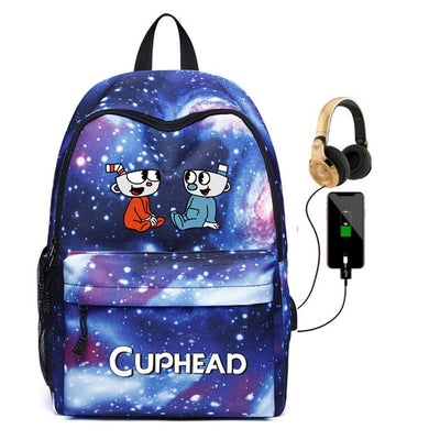 Cuphead Mugman Backpack USB charging