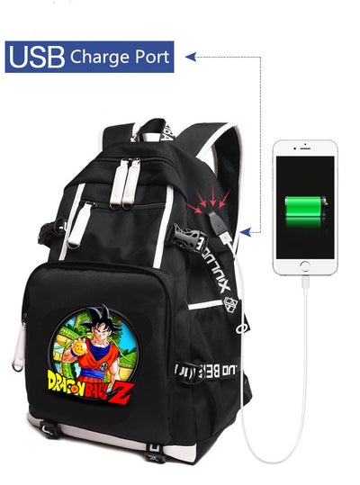 Anime DragonBall Z Son Goku Backpack with USB Charging port