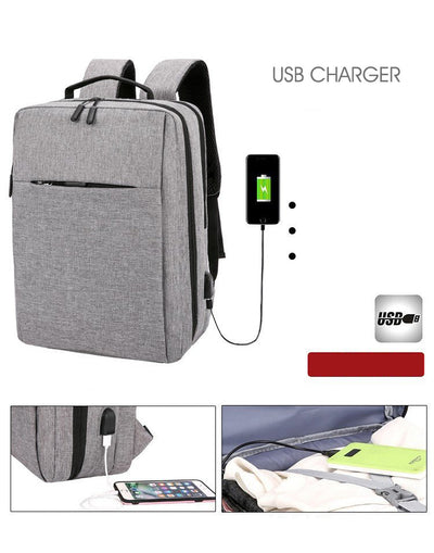 Waterproof Backpack for Men USB Charge 15.6 inch Laptop