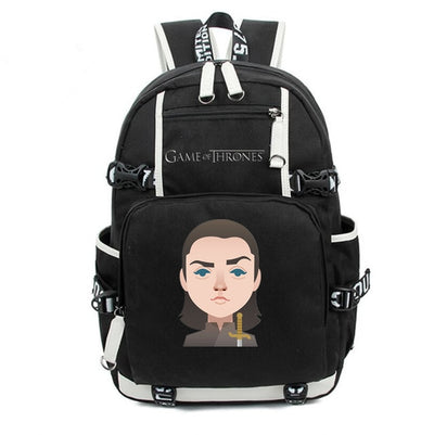 Daenerys snow Arya Game of thrones printing Canvas Backpack