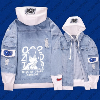 Anime darling in the franxx zero two Jeans hoodie Coat