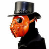 Steampunk Plague Doctor Devil Halloween Retro Brown PU Mask