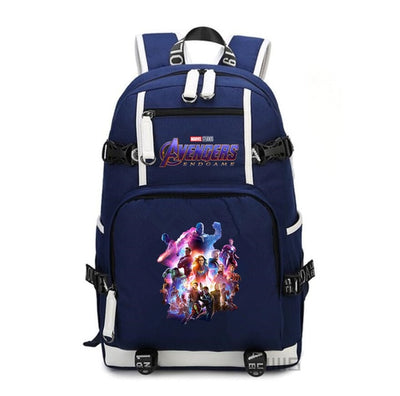 Marvel Avengers Endgame printing canvas shoulder Backpack