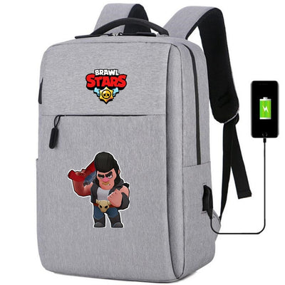 Brawl Stars usb charging canvas Laptop Backpack