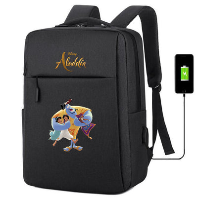 Aladdin usb charging Canvas Backpack