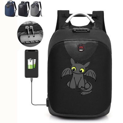 How to Train Your Dragon 3 Backpack with USB Charging port