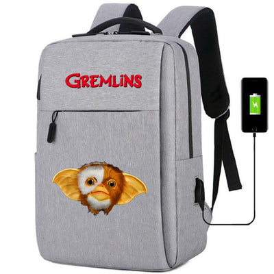 Gremlins Gizmo usb charging canvas business Backpack