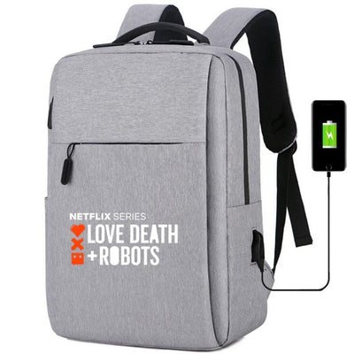 Love, Death & Robots usb charging canvas Backpack