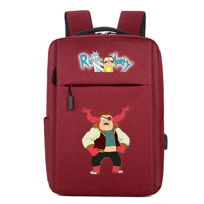 Council Pickle Rick Meeseeks Rick and morty usb charging canvas Backpack