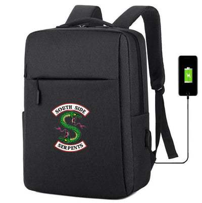 Riverdale South Side Serpents usb charging canvas travel Backpack
