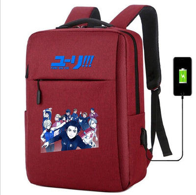 Yuri on Ice usb charging canvas Backpack