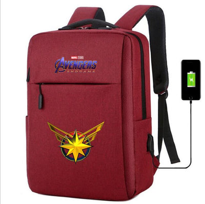 Marvel Avengers Infinity War usb charging canvas Backpack