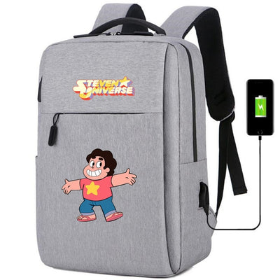 Steven Universe usb charging canvas Backpack