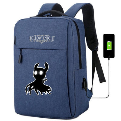 Hollow Knight usb charging canvas travel Backpack