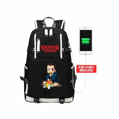 Teenagers Stranger Things USB Charging Casual Backpacks