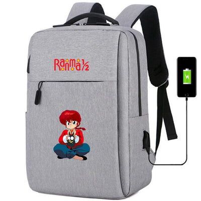 Ranma Nibun-no-Ichi usb charging Canvas Backpack