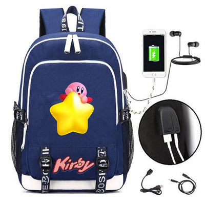 Children's Kirby USB Charging Backpacks