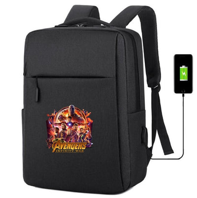 Avengers Infinity War printing usb charging canvas Backpack