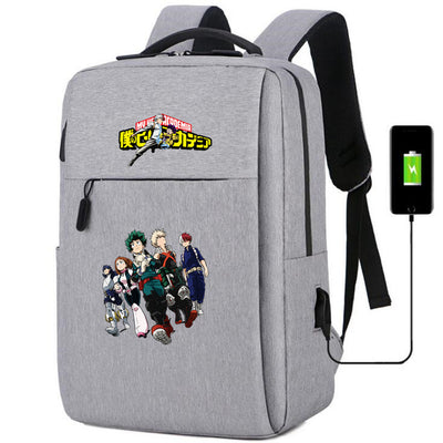 My Hero Academia usb charging canvas Backpack