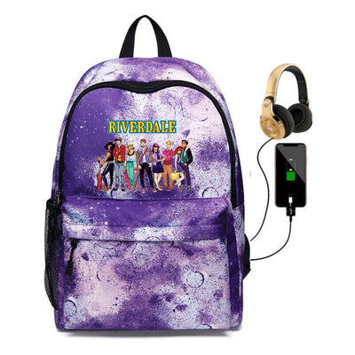 Unisex Riverdale South Side Serpents USB charging Backpack