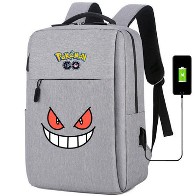 Pokemon go Gengar usb charging canvas Backpack
