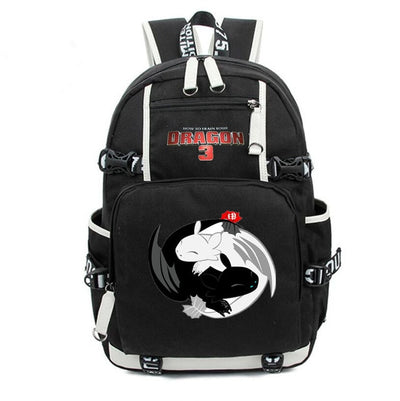 Children's How to Train Your Dragon 3 Light fury Night Fury Backpack