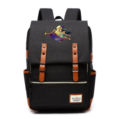 2019 Movie Aladdin Canvas Backpack